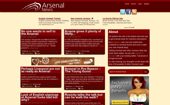 All the latest Arsenal News from around the web.